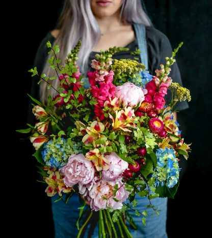 Our sherbet blooms are a gorgeous mixed bouquet of flowers in pastel tones, absolutely perfect for a variety of occasions!